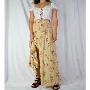 VINTAGE/ autumn floral skirt